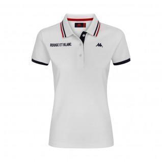 Polo donna AS Monaco 2020/21 bianco
