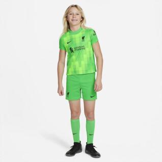 Abbigliamento gardien home per bambini Liverpool FC 2021/22 LK