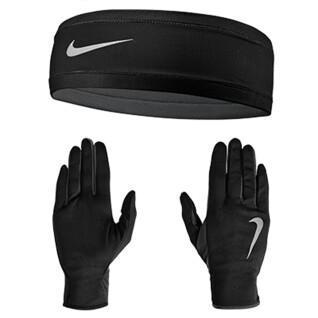 Set di guanti+capelli da donna Nike Run