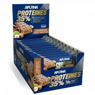 Confezione da 20 barrette Apurna HP Crunchy Chocolat-Noisette